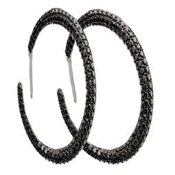 Black Diamond Pave Hoop