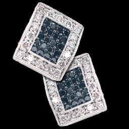 Charriol Black and White Diamond Earrings