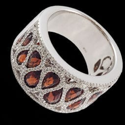 Garnet and Diamond Band