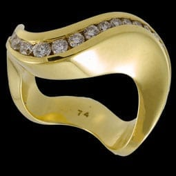 Gold Diamond Wave Band