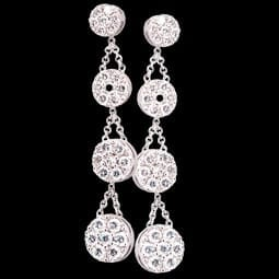 Pepi Diamond Drop Cluster Earrings