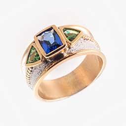 Tanzanite Tsavorite Ring