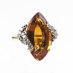 Citrine-and-Diamond-Ring
